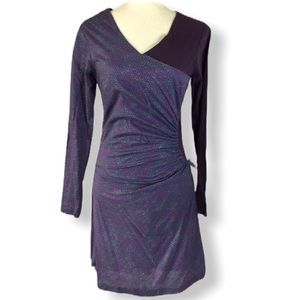 Skunkfunk purple crossover long sleeve dress